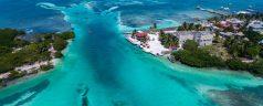Luftbild von Caye Caulker, Belize
