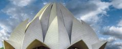 Architecture Lotus Temple Temple Building New Delhi